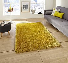 Rugs Direct Rug, Acrylic and Viscose, Yellow, 60cm