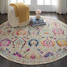 Rugs Direct Rug, Multicoloured, 122cm x 122cm'
