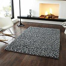 Rugs Direct Rug, Wool, Grey, 120cm x 170cm
