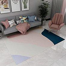 Rugs fireplace rug Pink purple blue minimalist