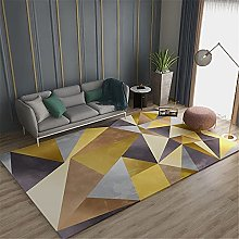 Rugs fireplace rug Yellow brown gray geometric