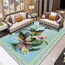 Rugs Living Room,Anti Slip Rug Vintage Chinese