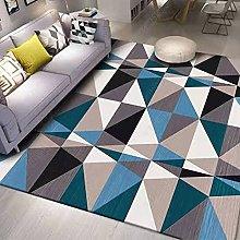 Rugs Living Room Blue Black Purple Geometric