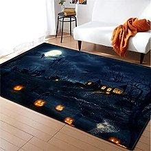 Rugs Living Room Large 100x150cm Blue Black Fluffy