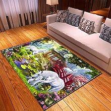 Rugs Living Room Large 100x150cm Purple Green