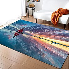 Rugs Living Room Large 100x150cm Red Blue Fluffy