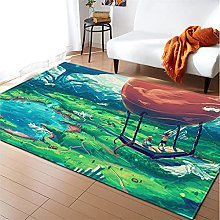 Rugs Living Room Large 160x230cm Green Red Fluffy