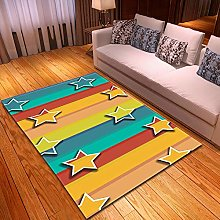 Rugs Living Room Large 160x230cm Yellow Blue