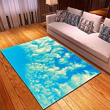 Rugs Living Room Large 40x60cm Blue Sky And White