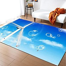 Rugs Living Room Large 40x60cm Blue Windmill