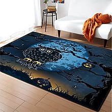 Rugs Living Room Large 50x80cm Blue Fluffy Shaggy