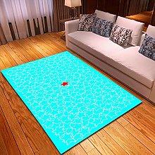 Rugs Living Room Large 50x80cm Light Blue Fluffy