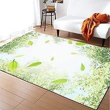 Rugs Living Room Large 50x80cm Mustard Green