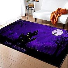 Rugs Living Room Large 50x80cm Purple Fluffy