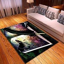 Rugs Living Room Large -60x100cm Black Purple