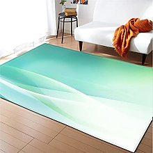 Rugs Living Room Large 60x90cm Green Fluffy Shaggy