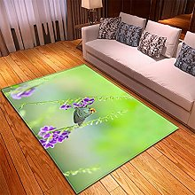 Rugs Living Room Large -60x90cm Green Purple,Thick
