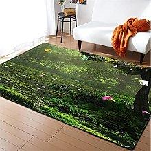 Rugs Living Room Large 60x90cm Mustard Green