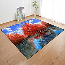 Rugs Living Room Large 60x90cm Red Blue Fluffy