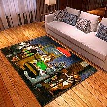 Rugs Living Room Large 80x120cm Grey Dog Fluffy