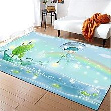 Rugs Living Room Large 80x120cm Light Blue Fluffy