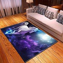 Rugs Living Room Large 80x120cm Purple Horse