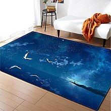 Rugs Living Room Large 80x160cm Blue Ocean Fluffy