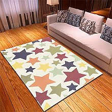 Rugs Living Room Large Color Stars Pattern Modern