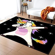 Rugs Living Room Large Color Unicorn Pattern