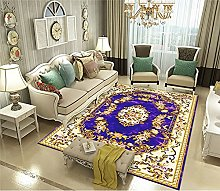 Rugs Living Room Large European Style Purple 3D
