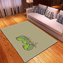 Rugs Living Room Large Gray Cartoon Pattern Modern