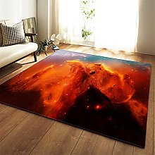 Rugs Living Room Large Red Colored Clouds Pattern