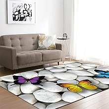 Rugs Living Room Large White Color Butterfly