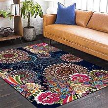 Rugs Mandala Flower Printed Soft Carpets Anti-Slip