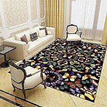 Rugs rugs living room Non-slip Black gray blue