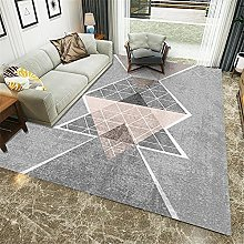 Rugs sofa for bedroom carpet Pink gray geometric