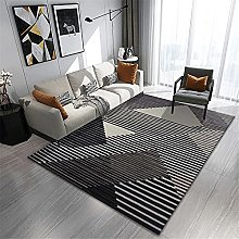 Rugs sofa for bedroom rug Black gray brown striped
