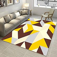 Rugs sofa for living room rug Yellow blue cream