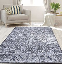 RUGS SUPERSTORE New Dark Grey, Silver Traditional