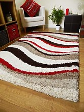 Rugs Superstore NEW MODERN SOFT SHAGGY RUG BROWN