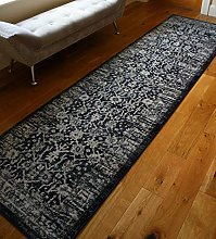 RUGS SUPERSTORE New Navy Silver Traditional