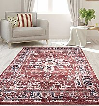 RUGS SUPERSTORE New Terra Burgundy Traditional
