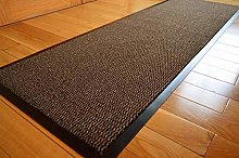 RUGS4HOME BROWN HEAVY DUTY NON SLIP RUBBER BARRIER