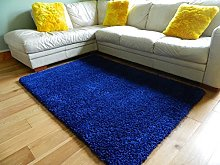 RUGS4HOME Plain Soft Touch Shaggy Navy Thick