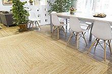 Rugsite 100% Jute Medium Rectangle rug, 120x180cm.