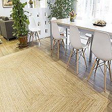 Rugsite Large 100% Jute Medium Rectangle rug,
