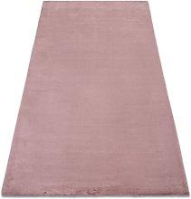 Rugsx - Carpet BUNNY pink IMITATION OF RABBIT FUR