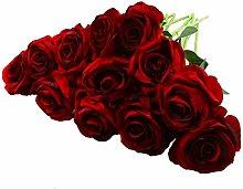 Rui Fiori 12 Pcs Artificial Roses, 19.7inches