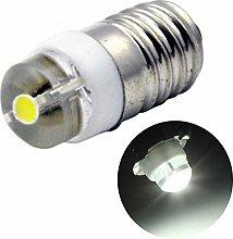 Ruiandsion 1pcs E10 LED Bulb DC 3V 0.5W 6000K