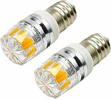 Ruiandsion 2pcs 2W COB 12V E10 LED Upgrade Bulb